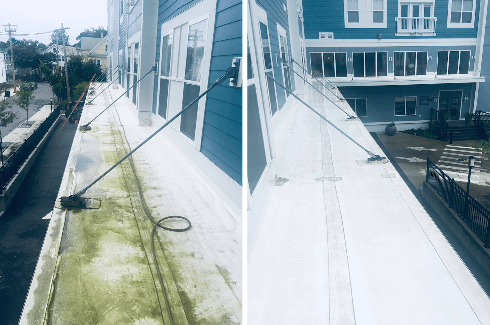 before-and-after-pressure-washing-condo-building